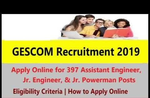Gescom Junior Engineer Karnataka 2020